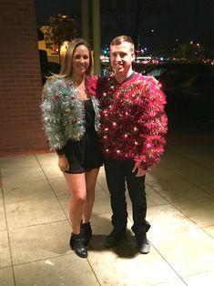 DIY ugly Christmas sweater couple