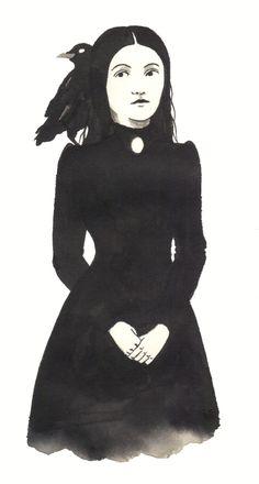 A Salem witch illustration for inktober.Excited for Halloween! #inktober