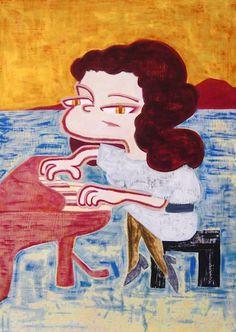 Regina Spektor  #portrait #illustration #painting #contemporaryart #pianist #イラスト