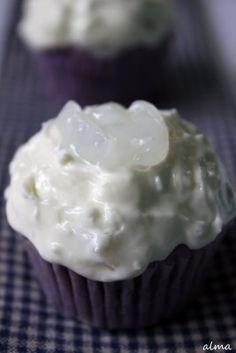 Ube Cupcake With Macapuno Whipped Cream