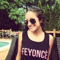 Beautiful, classy and extremely comfy comes the FEYONCE Tank Top with Pink Print Sentimental Gifts, Engagement Gifts, Newlyweds, Beyonce, Round Sunglasses, Great Gifts, Classy, T Shirts For Women, Bride