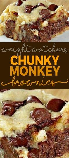 Chunky Monkey Brownies – Weight watchers Freestyle Smart Points Friendly Source by Dessert Weight Watchers, Plats Weight Watchers, Weight Watchers Meals, Weight Watchers Brownies, Weight Watchers Cupcakes, Weight Watcher Smart Point Meals, Weight Watchers Banana Pudding Recipe, Weight Watcher Crockpot Recipes, Weight Watcher Cookies