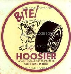 hoosier tire vintage decals - Buscar con Google Racing Stickers, Cool Stickers, Car Decals, Car Logos, Auto Logos, Vintage Signs, Vintage Ads, Monster Car, Nhra Drag Racing