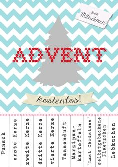 Adventsstimmung zum Mitnehmen ☆ free printable by http://titatoni.blogspot.de/
