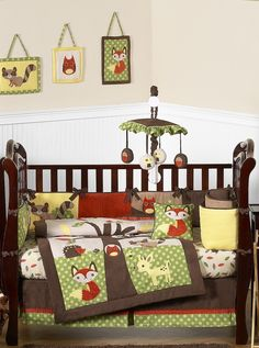 Forest Friends Animal Baby Bedding 9pc Crib Set - Sweet Jojo Designs