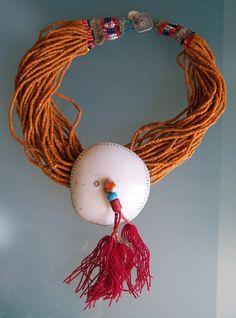 naga shell seedbead necklace
