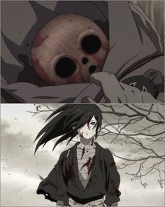 Hyakkimaru was the top pic, to then the bottom pic I Love Anime, All Anime, Anime Guys, Anime Art, Manga Anime, Otaku, Arte Robot, Accel World, Online Manga
