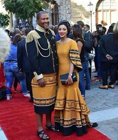 African Traditional Wedding Dress, African Fashion Traditional, African Wedding Dress, African Inspired Fashion, African Men Fashion, Traditional Outfits, African Wear Dresses, African Attire, Xhosa Attire