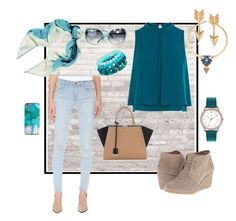 Untitled #702 by alliedrover on Polyvore featuring polyvore, fashion, style, Coast, Frame Denim, TOMS, Fendi, Journee Collection, Henry London, Panacea, Chanel, Halston Heritage and clothing