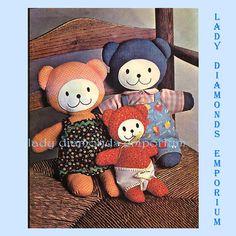 668 McCalls 4714 Vintage 70's Stuffed Teddy Bear by ladydiamond46