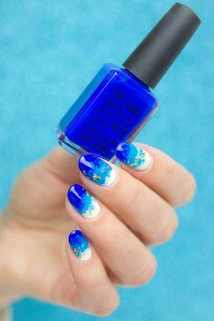 beach nails for summer | Summer vacation nail art using Kester Black Monarch