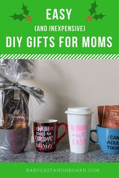 The holidays can be stressful when it comes to money. Here are a few DIY holiday… The holidays can be stressful when it comes to money. Here are a few DIY holiday gifts for mom that you can actually make look like the pictures. Inexpensive Gifts For Men, Diy Gifts For Mom, Diy Holiday Gifts, Homemade Gifts, Holiday Decor, Mama Baby, Christmas Crafts, Christmas Stuff, Christmas Recipes