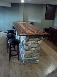 With barn wood top