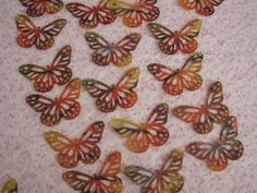 Butterfly Punch Die Cuts Multicolor Vellum Paper by TomaCraftPlace