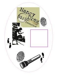 Nancy Drew detective badge and images