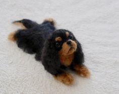 READY TO SHIP/ Needle Felted / Cavalier King Charles by HiMeg