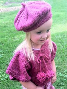 Knitting - Patterns for Children & Babies - Gift Set Patterns - Tesslyn Knit Capelet and Beret