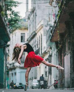 Ballet Dancers in The Streets of Cuba