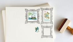 Ornate Postage Frame Rubber Stamps | Anticipate