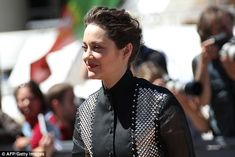 Trying her best:Jolie, 41, was so jealous of Cotillard (above in May)…