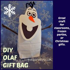 """The movie """"Frozen"""" is a big hit with kids. I even like it (just a kid at heart)! This Olaf Gift..."""