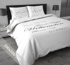 DreamHouse Dekbedovertrek - Welterusten - Wit - 200x200-260 cm - 100% flanel