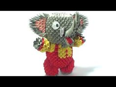 How to make 3D Origami Elephant? - Hướng dẫn xếp con voi Origami 3D - YouTube
