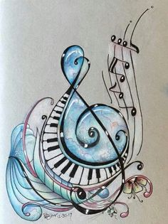 New music painting inspiration treble clef 15 ideas Music Tattoo Designs, Music Tattoos, Music Painting, Music Artwork, Tattoo Musik, Music Notes Art, Music Music, Pictures Of Music Notes, Rock Music
