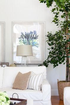 White neutral living room design | J. Kurtz Design