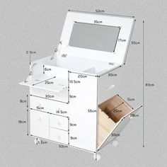 Makeup Cabinet New Style Movable Wooden Makeup Cabinet With Mirror Buy Wooden, Home Accessory Make Up Cabinet Make Up Makeup Bag White, Brand New Jk Makeup Cabinet With Fully Assembled 168 Womens, Cardboard Storage, Cardboard Furniture, Cardboard Crafts, Diy Furniture, Furniture Design, Makeup Storage, Diy Storage, Makeup Organization, Storage Cart