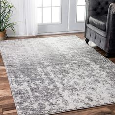 NuLOOM Contemporary Granite Mist Shades Grey Rug (8u00276 X 11u00276) By Nuloom
