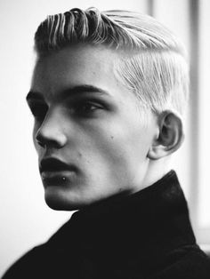 I nice cropped cut styled with Aveda's Grooming Clay or Men's Pomade...Definitely a Pureformance look for Fall 2013