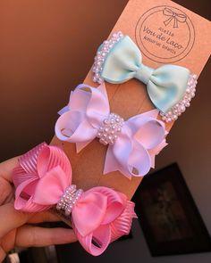 Ribbon Hair Bows, Diy Hair Bows, Diy Bow, Diy Ribbon, Sewing Headbands, Baby Headbands, Pearl Headband, Diy Hair Accessories, Boutique Bows