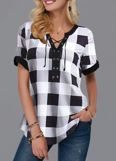 Stylish Tops For Girls, Trendy Tops, Trendy Fashion Tops, Trendy Tops For Women Page 3 Trendy Tops For Women, Blouses For Women, Women's Blouses, Stylish Tops, Casual Tops, Plaid Outfits, Fashion Outfits, Chic Outfits, Fashion Clothes