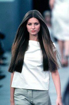The last supermodel to reach household name status: Gisele Bundchen at Louis Vuitton Spring 1999