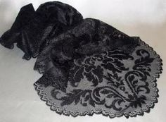 Black lace runner for the head table? I think I saw a and an version somewhere. Heritage Lace Heritage Damask Table Runner 14 x Black Lace Runner, Lace Table Runners, Steampunk Wedding, Victorian Steampunk, Black Lace Table, Damask, Alexander Mcqueen Scarf, Snug, Wedding Decorations