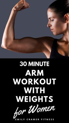 30 minute arm workout with weights for women includes video tutorials for. Arm Workouts Without Weights, Arm Workout Women With Weights, Upper Body Workout For Women, Arm Workouts At Home, Fitness Workout For Women, Weights For Women, Fitness Tips, Bicep Workouts For Women, Weight Lifting For Women