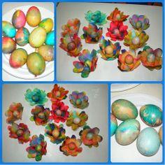 παιχνιδοκαμώματα στου νηπ/γειου τα δρώμενα: βάφω αβγά....... ηφαιστειακά !!!