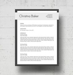 Resume Cover Letter Templates Resume & Cover Letter Template  Resumes  Creative Resumes At .