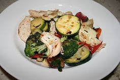 Paleo Table | Paleo Recipes, meal plans, and shopping lists: Grilled Vegetable Salad with Chicken