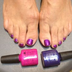 Overlaying shellac, here we've put on purple purple with a layer of butterfly queen on top