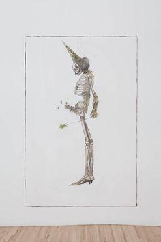 JEAN-LUC VERNA, Mort fée, 2012, Transfert de dessin sur panneau de gypse rehaussé de crayon et de fards, 120 X 185 cm. Œuvre disponible à l'Encan-bénéfice du MACL, le 9 novembre 2014.