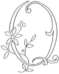Monogram for Hand Embroidery. Could also be used as a stencil for other craft projects