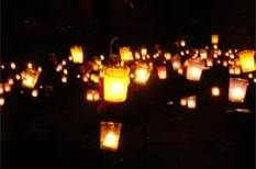 candles make a vigil