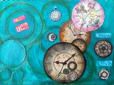 Canvas I painted Its Time!  By Heather Renee