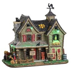 SKU 05608 - Released in 2020 as a Lighted Building for the Spooky Town Village Collection. Village Lemax, Village Houses, Halloween Village, Light Building, Exterior Lighting, Seasonal Decor, Christmas Shopping Online, Online Shopping, Lemax Christmas