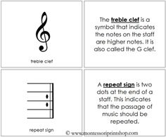 Musical Notes and Symbols Book: Montessori Home Learning Materials