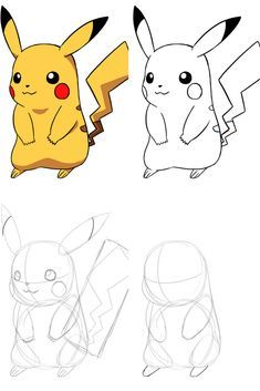 5 Dessins Faciles A Faire Dessin Pikachu Dessin Pokemon Dessins Faciles