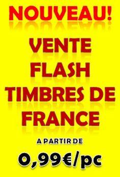Vente flash timbres de France