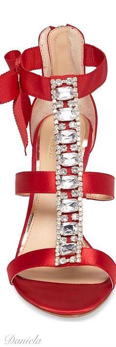 Diamanté and red sandals Shoe Boots, Shoes Sandals, Dress Shoes, Pumps, Stilettos, Kinds Of Shoes, Hot Shoes, Shoe Game, Beautiful Shoes